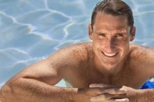 fit older guy in pool