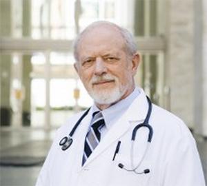 senior doctor in white coat